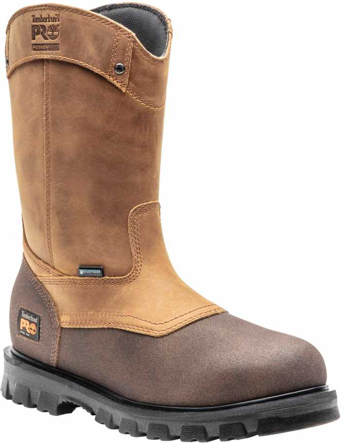 Timberland PRO TM89604 Rigmaster, Men's, Brown, Steel Toe, EH, WP, Pull On Boot