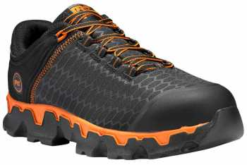 Timberland PRO TMA1B6S Powertrain, Men's, Black/Orange, Alloy Toe, EH, Casual