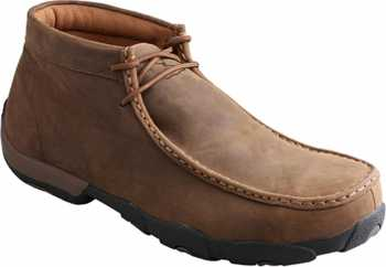 Twisted X TWMDMST01 Men's, Saddle, Steel Toe, EH, Chukka Driving Moc