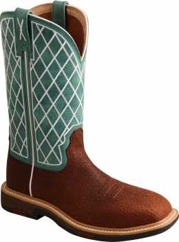 Twisted X TWWXBA002 Women's, Tobacco/Turquoise, Alloy Toe, EH, Pull On Boot