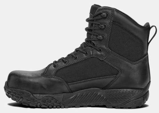 Under Armour UA1276375 Men's Black, Comp Toe, EH, 8 Inch, Tactical Boot
