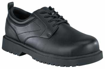 Grabbers WGG0020 Black Steel Toe, Electrical Hazard, Slip Resistant Men's Citation Plain Toe Oxford