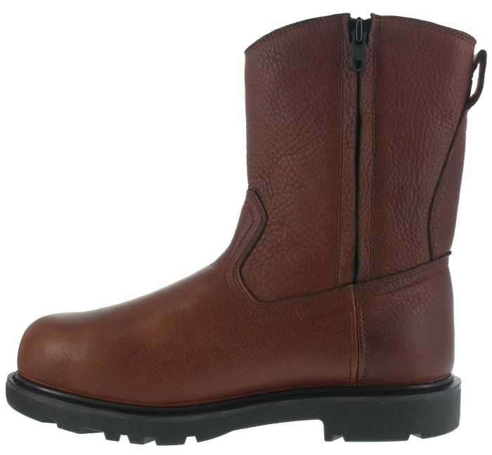 Iron Age WGIA0195 Hauler, Men's, Brown, Comp Toe, EH, Mt, 10 Inch, Side Zip Wellington
