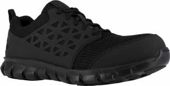 Reebok Work WGIB4039 Sublite Cushion Work, Men's, Black, Comp Toe, SD, PR Athletic