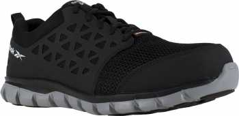 Reebok Work WGIB4041 Sublite Cushion Work, Men's, Black, Comp Toe, EH, PR Athletic