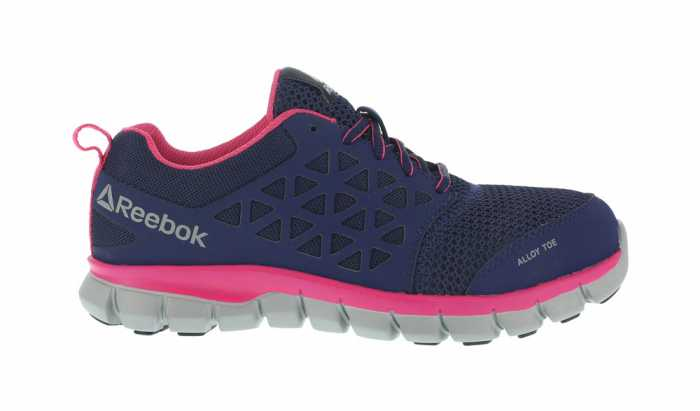 Reebok WGRB046 SubLite Cushion Work Women's, Navy/Pink, Alloy Toe, EH, Low Athletic