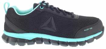 Reebok Work WGRB050 Sublite Work, Women's, Black/Mint, Alloy Toe, SD, Work Athletic