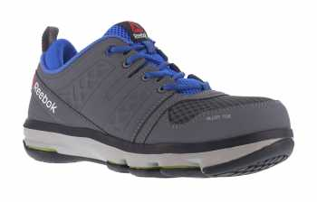 Reebok Work WGRB3604 DMX Flex Work, Men's, Grey/Blue, Alloy Toe, SD Athletic