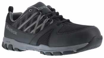 Reebok Work WGRB4015 Sublite Work, Men's, Black/Grey, Soft Toe, SD, Athletic Oxford