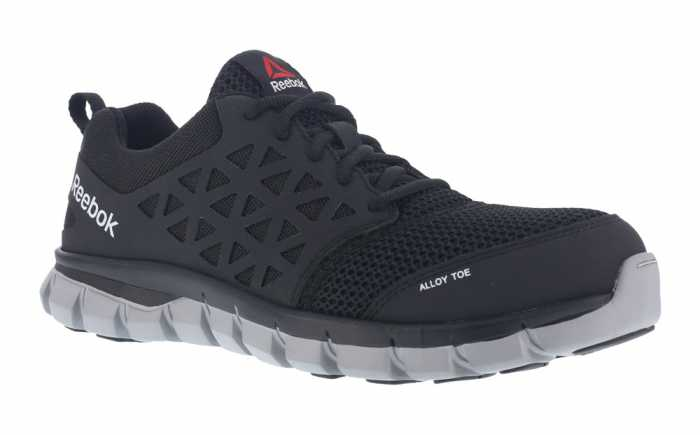 Reebok Work WGRB4041 Unisex Black, XTR Alloy Toe, EH, Sublite Athletic Oxford
