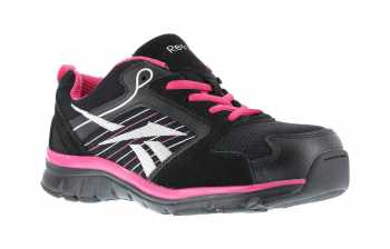 Reebok WGRB454 Black/Pink/Silver Comp Toe, SD, Women's Sports Series Athletic