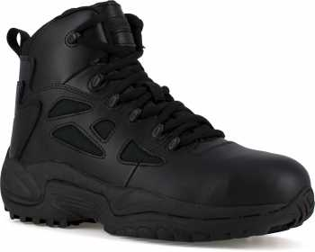 Reebok Work WGRB8674 Rapid Response, Men's, Black, Comp Toe, EH, 6 Inch, Stealth Boot