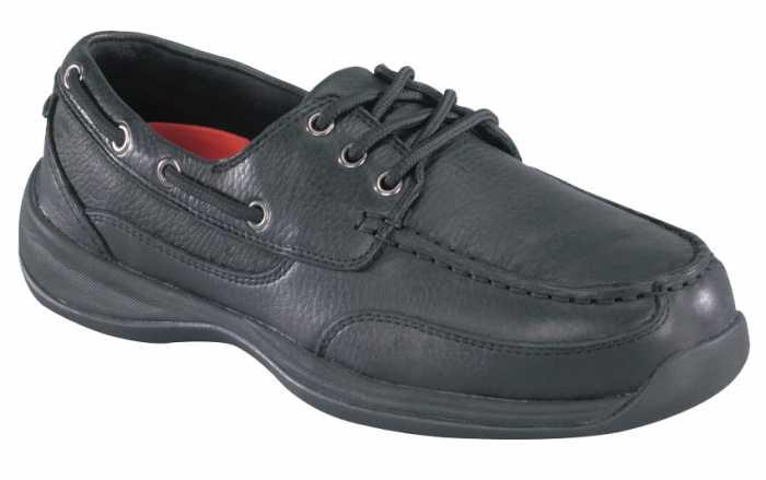 Rockport Works WGRK638 Black, Steel Toe, SD, Women's Sailing Club 3 Eye Boat Shoe