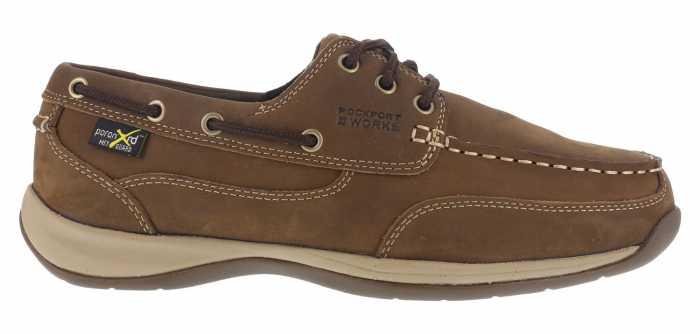 Rockport WGRK634 Sailing Club, Women's, Brown, Steel Toe, EH, Mt, Boat Shoe