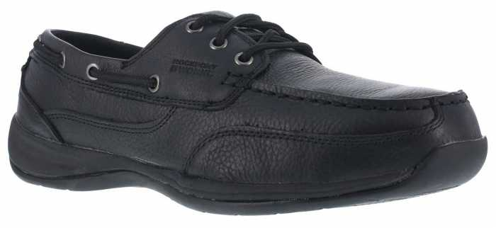 Rockport Works WGRK6738 Sailing Club, Men's, Black, Steel Toe, SD, Boat Shoe