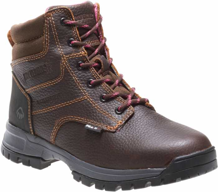 Wolverine WW10180 Piper Brown, Comp Toe, EH, Waterproof Women's 6 Inch Boot
