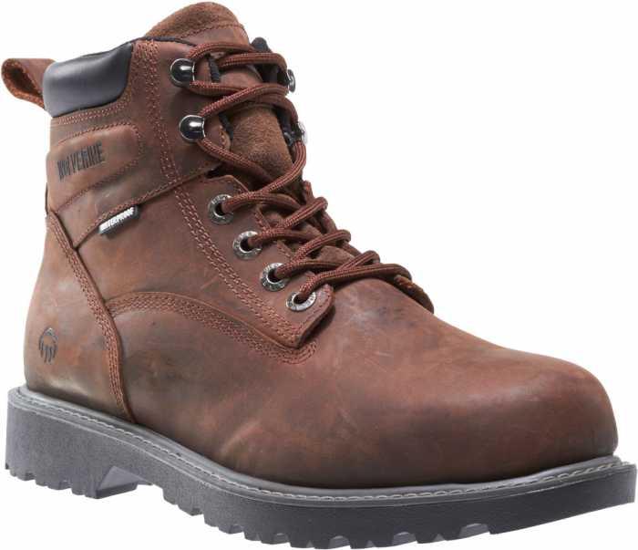Wolverine WW10633 Floorhand Men's, Dark Brown, Steel Toe, EH, 6 Inch, Waterproof Boot