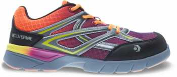 Wolverine WW10693 Jetstream Women's Orange/Purple, CarbonMAX, EH, Low Athletic