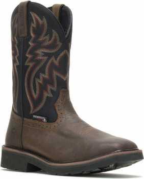 Wolverine WW10765 Rancher, Men's, Black/Brown, Steel Toe, WP Wellington