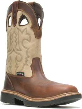 Wolverine WW211130 Rancher, Men's, Bone, Comp Toe, EH, WP, Pull On Boot