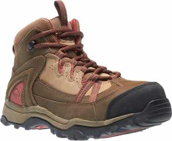 Wolverine WW2210 Women's Brown/Red Steel Toe, EH, Slip Resistant Hiker