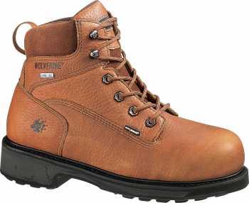Wolverine WW2564 DuraShocks Brown, Comp Toe, EH, Gore-Tex Waterproof, Men's 6 Inch Work Boot