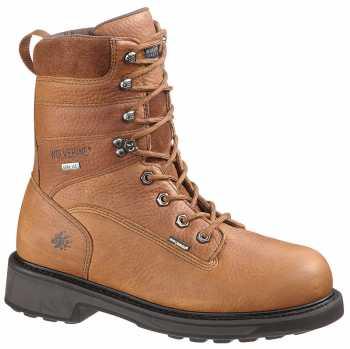 Wolverine WW2566 DuraShocks Brown, Comp Toe, EH, Gore-Tex Waterproof, Men's 8 Inch Work Boot