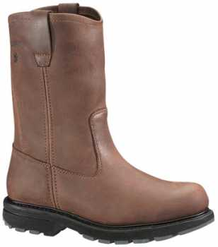 Wolverine WW4707 Brown, Steel Toe, EH, Men's 10 Inch Wellington Work Boot