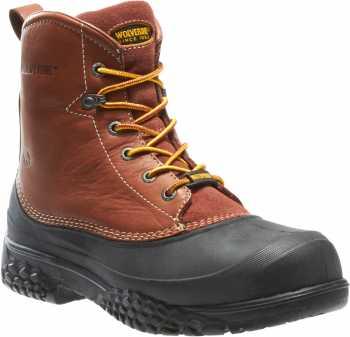 Wolverine WW5698 SwampMonster Brown, Steel Toe, EH, Waterproof Men's 6 Inch Work Boot