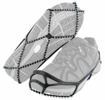 Yaktrax Walker Black Men's and Women's Rubber Steel Coil Men's 11 and a half to 13 and a half. Women's 13 and a half to 15.